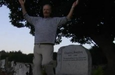 Man (literally) dances on Haughey's grave to protest FF corruption
