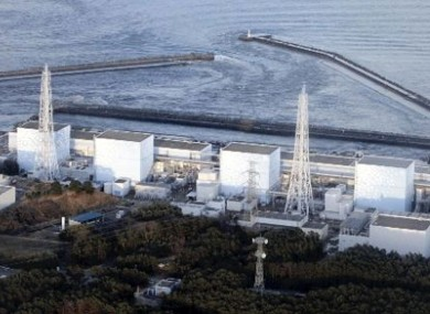 A photograph of the Fukushima I nuclear plant in Japan. The square building to the right of this photo has been significantly damaged following an explosion, local TV said.