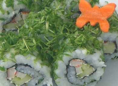 Green sushi: a native Irish dish. Apparently.