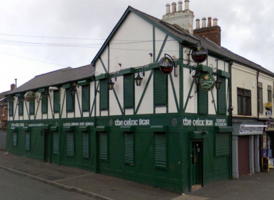 The Celtic Bar on Belfast's Falls Road, where an incident led to four people receiving stabbing injuries.