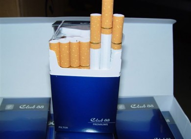 Club 88 cigarettes - first such seizure in Ireland