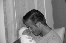 Daddy's little girl: the first picture of Harper Seven Beckham