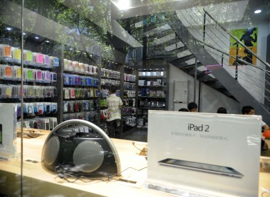 An exterior view of an 'Apple Store' in Kunming, which isn't an official Apple outlet.