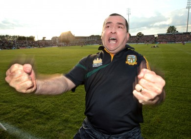 Seamus McEneaney celebrates after Meath's win over Galway