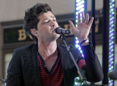 The Script frontman Danny O'Donoghue. A story on the Sony Music Ireland website this morning claimed that two members of the band had died.