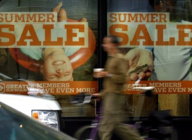 Summer sales led to cheaper clothes, shoes and furniture for Irish people in July, steadying the annual inflation rate despite rising mortgage costs.