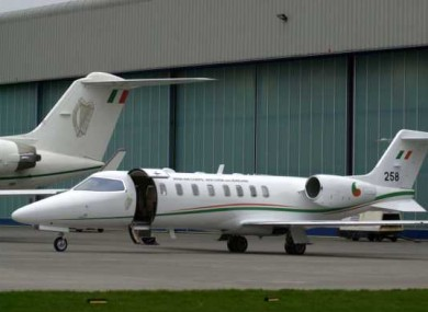 The Air Corps' government Learjet brought Meadhbh McGivern to London shortly after midnight.