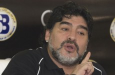 WATCH: Maradona kicks out at Al-Wasl fan