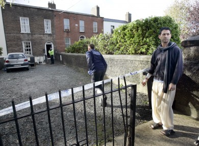 The house where the body was found. Ishtar Ahmed, right, tried to rescue the woman inside