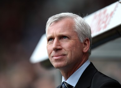 Pardew has had plenty to smile about lately.