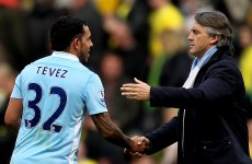 Poll: would Manchester City be champions by now had Tevez been available all season?