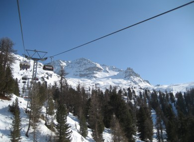 A ski lift in St Moritz (not the cable car involved in the rescue)