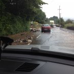 How flooding has affected a road near Glanmire