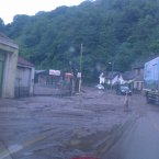 A reader send in this photo of a road washed away in Glanmire, Cork 