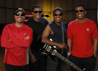 Marlon Jackson, Jackie Jackson, Tito Jackson and Jermaine Jackson during a rehearsal in Burbank.