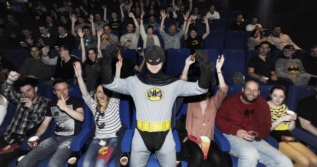 PHOTOS: Are these Batman fans excited about the movie much?
