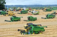 In photos: Harvesters combine for Guinness World Record attempt