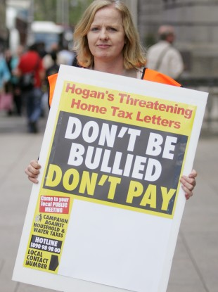 Cllr Ruth Coppinger of the Campaign Against Household and Water Taxes pictured on 5 July