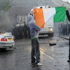 Nationalists in the Ardoyne area of Belfast clash with police (Photo: Laura Hutton/Photocall Ireland)