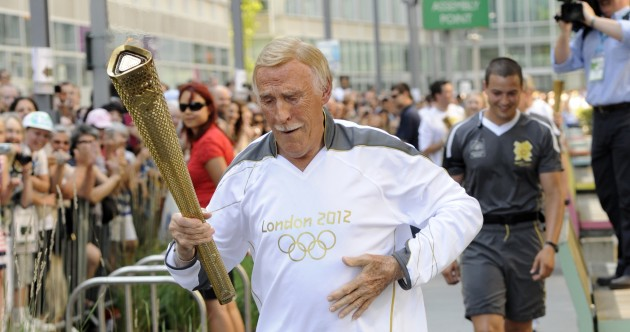 Pics, videos: Bruce Forsyth carries Olympic torch, busts several moves