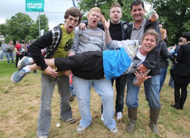 Only one pair of wellies among these Stone Roses fans at Thursday's gig