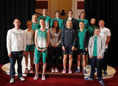 Members of Ireland's Olympic team before their departure.