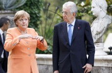 Merkel and Monti pledge to protect eurozone