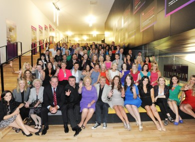 Cast and crew at TV3's autumn launch this week in Dublin.