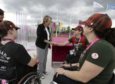 Eve Loeffler meets the Canadian women's wheelchair basketball team.