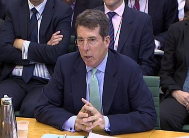 Bob Diamond giving evidence to the Treasury Select Committee on 4 July 2012.