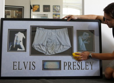Briefs worn by Elvis up for sale
