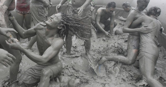 Welly sales are up 99 per cent… so here's a mudbath gallery to celebrate