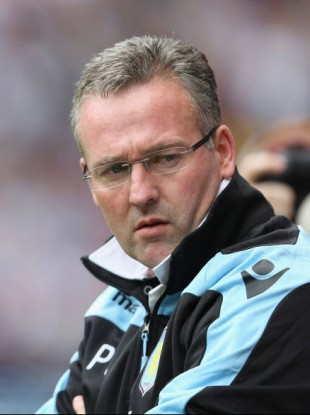 Aston Villa boss Paul Lambert.
