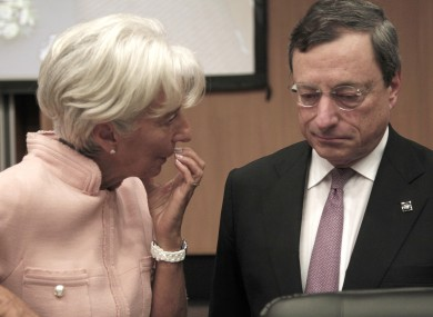 IMF head Christine Lagarde and ECB president Mario Draghi are reportedly in preliminary discussions about a €300 billion bailout for Spain.