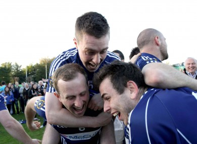 St Gall's players celebrating last week's FBD Kilmacud Sevens action.