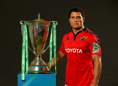 Doug Howlett has taken over the Munster captaincy from Paul O'Connell.