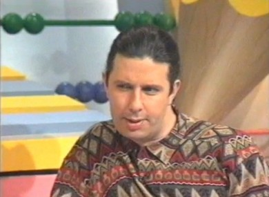 Presenter Gerry Ryan during the 1990s