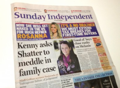 Today's Sunday Independent ran the article as its front page lead story.