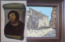 Remember the old fresco lady? She's sold a painting for €1,000