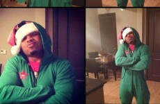 Suits you sir! Here's what an NFL player looks like in a onesie