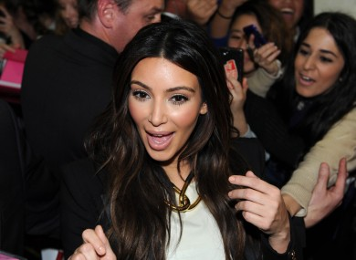 Kim Kardashian reacts in shock to an offer of pants.