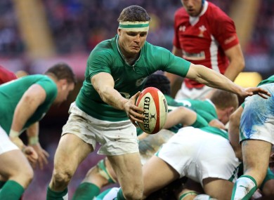 Brian O'Driscoll fills in as scrum-half.