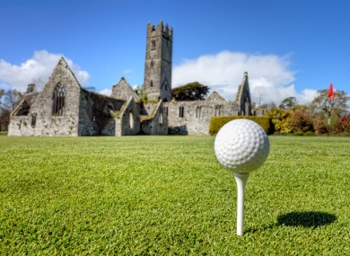 A golf course and an ancient abbey. Sure, where else would you get it?