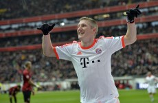 VIDEO: Bastian Schweinsteiger just scored a cheeky backheel vs Frankfurt