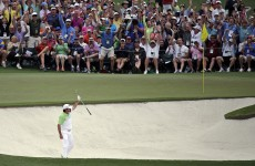 Jason Day got Masters Sunday off to a flier with this eagle from the 2nd bunker