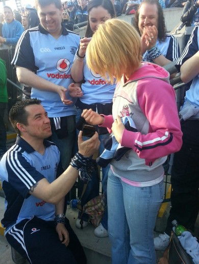 Your Marriage Proposal in Croke Park Pic of the Day