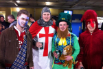 Lions fans unite: Braveheart, dragon, knight and… a leprechaun