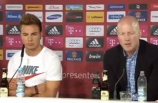 Bayern Munich fined Mario Goetze for wearing a Nike t-shirt to his unveiling