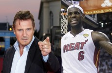 Liam Neeson and LeB
