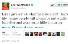 Westwood apologises to sponsors after angry Twitter tirade